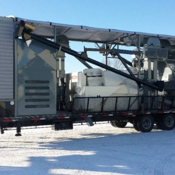 Mobile Grain Cleaner with On Board Weigher