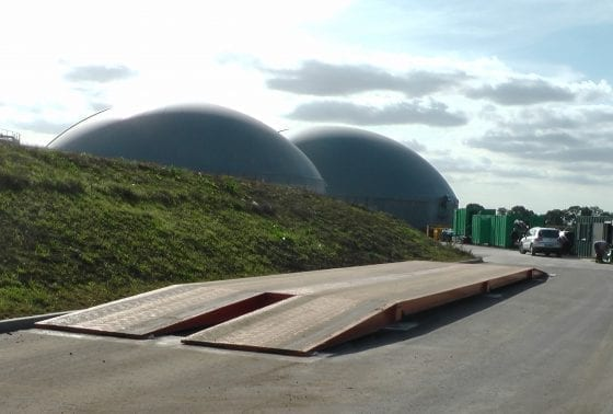 biogas plant surface mounted weighbridge